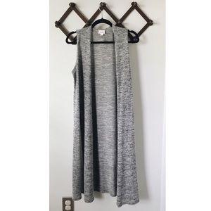 Gray LulaRoe Joy Vest